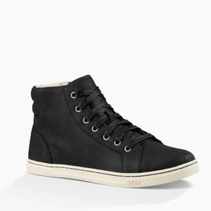 Women's Ugg Gradie Black high top - buffed leather